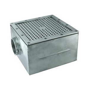 "Main drain 250 x 250 mm 2,5"", for liner"