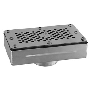 Rectangular overflow drainage, universal AISI 316L