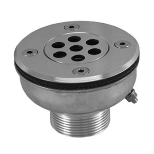 Floor inlet for liner, vertical flow AISI-316L