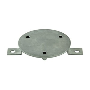 Wall insert of handrail for liner AISI 316L