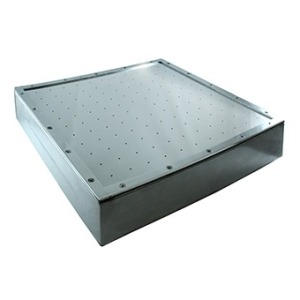 Air massage plate for liner pools 500 x 500 mm AISI 304