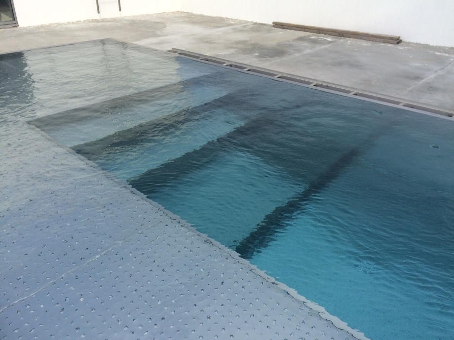 Roof top owerflow steel swimming pool