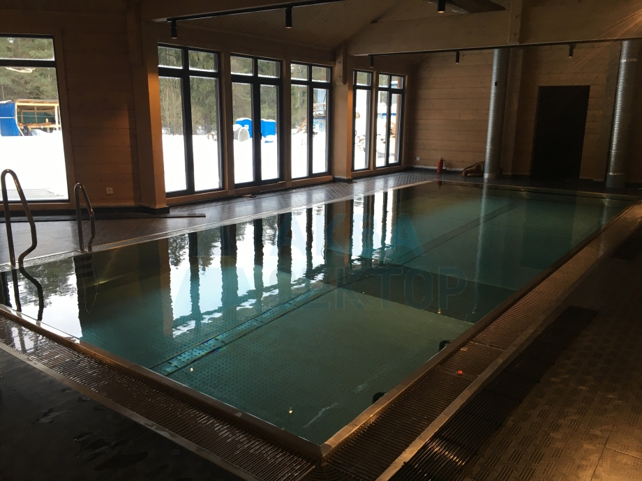 Indoor overflow swimming pool 10х4